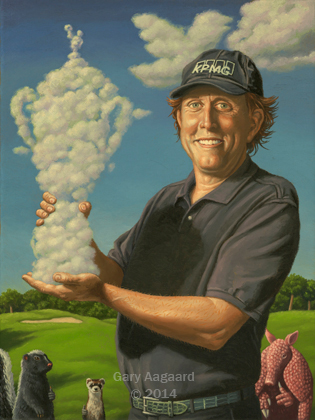 Gary Aagaard, artist and illustrator. How Phil Finally Won the U.S. Open